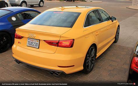 Audi S3 Exclusive by Audi Exclusive Imola Yellow S3 Sedan Photo Brian