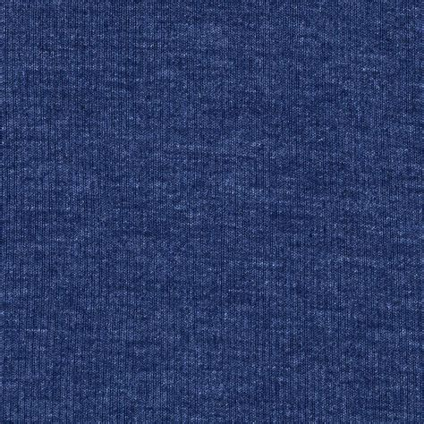 Knit Blue by Basic Cotton Blend Rib Knit Marine Blue Discount