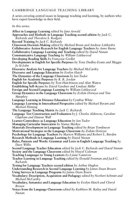 Task Based Language Teaching Nunan David