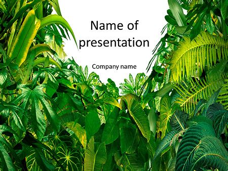 powerpoint templates jungle free selva tropical verde plantillas de presentaciones