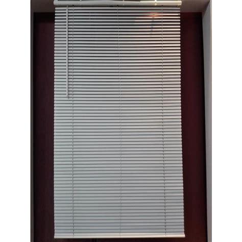 cordless white aluminum light filtering door blinds mini blinds shop project source 1 in cordless white vinyl light