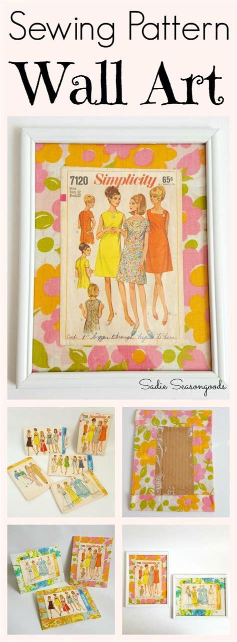 pattern making artinya create gorgeous fun wall art using vintage sewing pattern