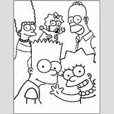Free Printable Simpsons Coloring Pages For Kids