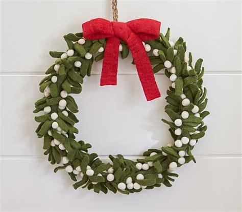felt wreath felt wreath pottery barn
