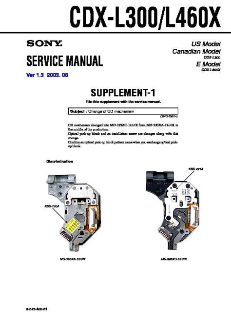 sony cdx l300 wiring diagram wiring diagram schemes