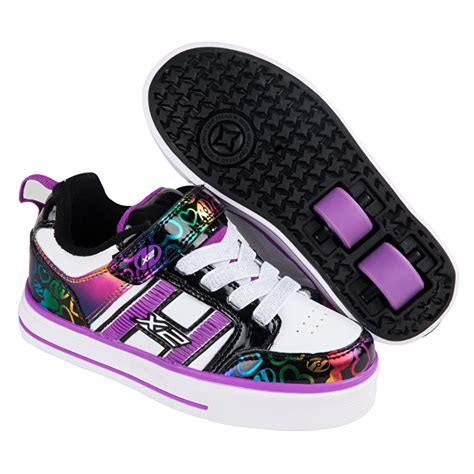 heelys light up shoes heelys x2 bolt plus light up white black rainbow hearts