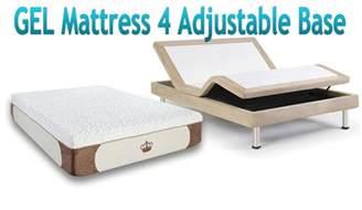 Bed Base For Memory Foam Mattress 12 Quot Gel Cool Memory Foam Mattress For Adjustable Beds Base Ebay