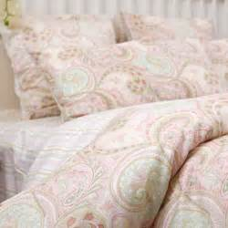 Home custom made twin size pink paisley bedding set