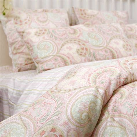 Beddings And Duvets Custom Made Size Pink Paisley Bedding Set Custom