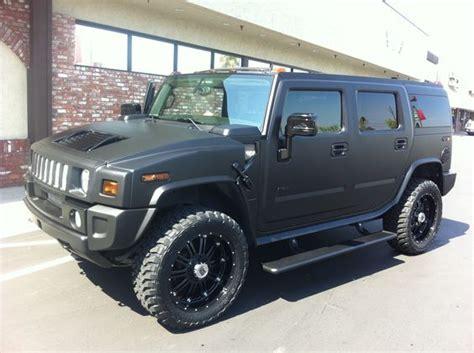 jeep hummer matte black 2008 h2 hummer matte black wrap with matching trim