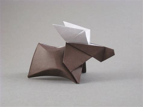 Origami Deer Diagram - origami deer and moose gilad s origami page