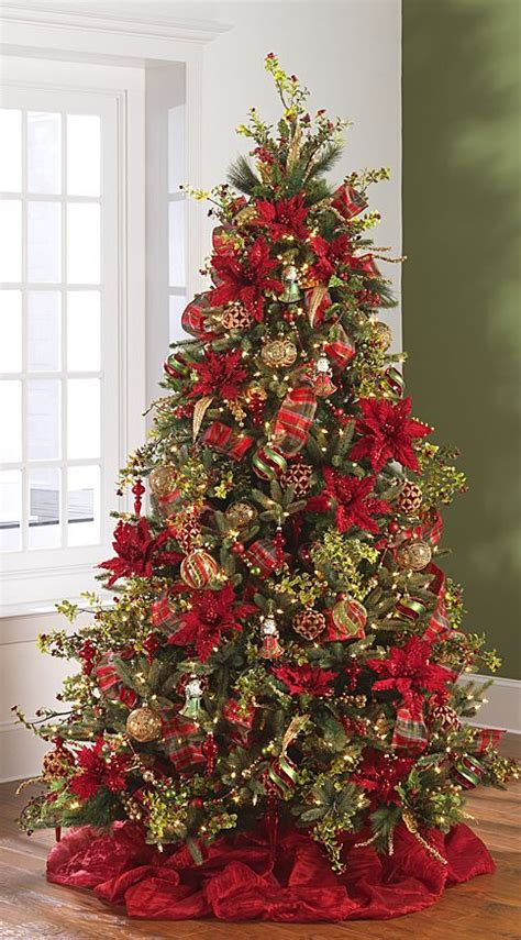 collection of 8 stunning flower decorated christmas trees