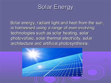 define solar array solar energy ppt