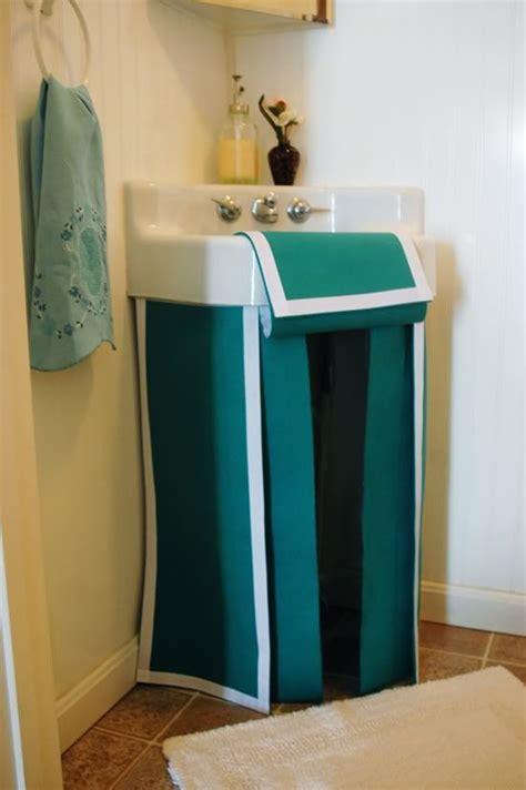 how to make a bathroom sink skirt 17 best ideas about sink skirt on bathroom