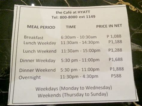 City Of Dreams Manila Cafe At Hyatt Buffet Prices Barat Ako City Buffet Prices