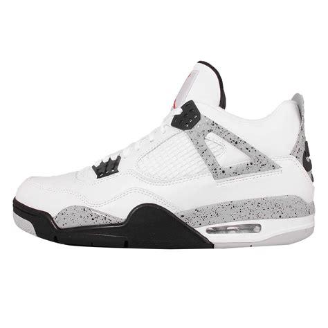 Nike Air 4 Retro Og 89 White Cement Sneakers Pria Premium nike air 4 retro og 89 white cement mens 840606 192
