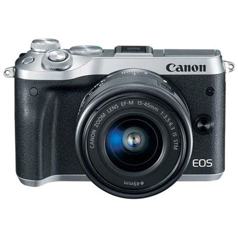 canon mirrorless canon eos m6 mirrorless digital silver w ef m 15