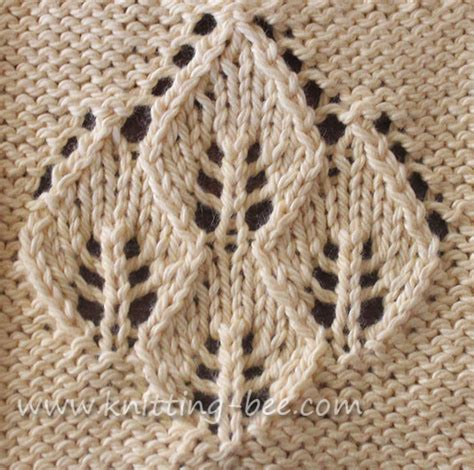 pattern knitting leaf four leaf lace panel knitting pattern knitting bee