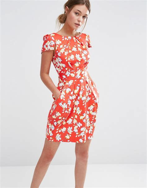 Print Sleeve Dress closet closet floral print sleeve dress at asos