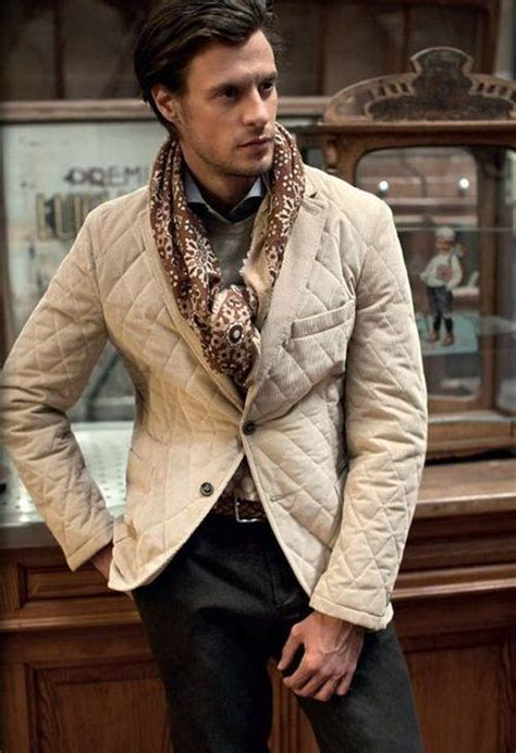 And Gentlemen Sweater winter trends for the quilted jacket mens beige quilted blazer menswear mens style