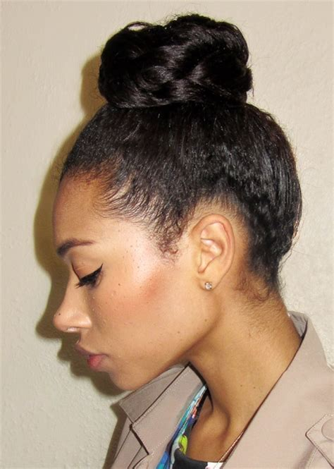 relaxed hair buns 56 best images about texlaxed relaxed hair on pinterest