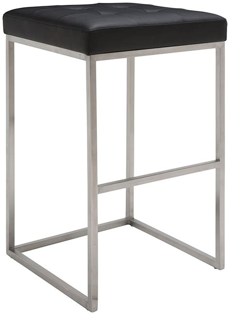 Chi Bar Stool by Chi Bar Stool By Nuevo Living In Black And Stainless Steel