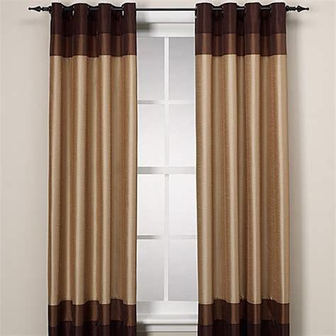 color block curtain panels colorblock grommet window panel bed bath beyond