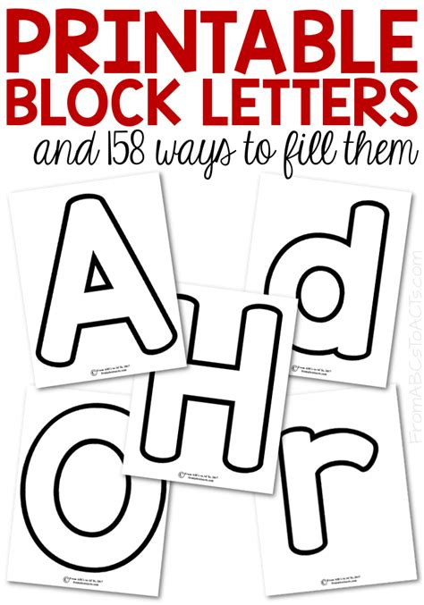 Block Alphabet Printables