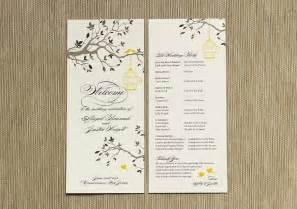photo wedding programs what to include in your wedding program citrus press co invitations