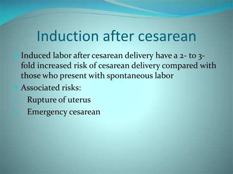 induction after c section ppt induction of labor powerpoint presentation id 1756838
