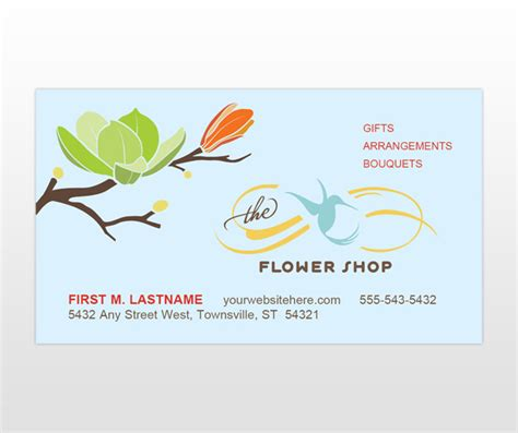 flower shop business card template free document moved