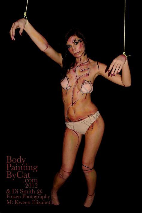 bloody valentine dead doll bodypaint shoot body