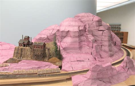 art  todd gamble massive ho scale mountain ready  plaster castings