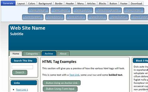 template generator html best photos of joomla template generator wordpress