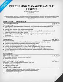 Purchasing Executive Sle Resume by Procurement Manager Resume