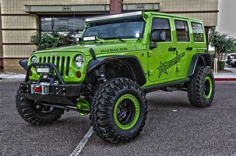 Neon Green Jeep Green Jeep Rubicon Fab Four Wheelers In