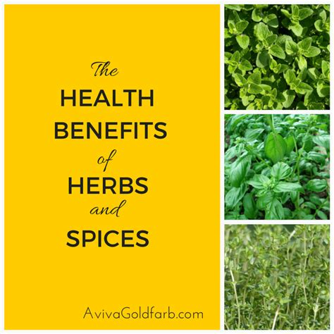 our kosher kitchen benefits of fruits veggies herbs and spices chart health benefits of herbs and spices avivagoldfarb com