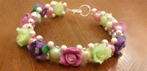 how to make flower bracelets with how to make vintage beaded flower bracelet with clay