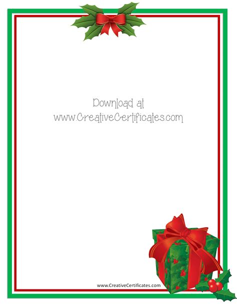 free christmas border templates customize online then