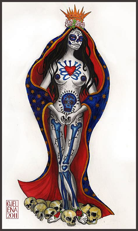 santa muerte commission work design i did for a tattoo