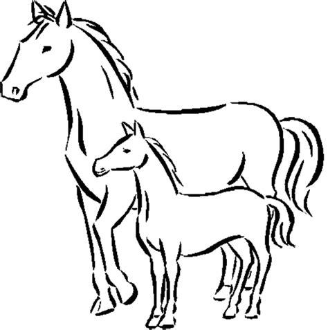 buku halaman belajar mewarnai binatang kuda untuk anak