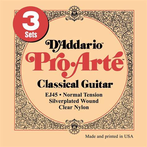 Pro Arte Guitar Strings - d addario ej45 3d pro arte 171 classical guitar strings