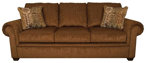 brett sleeper sofa with exposed block legs