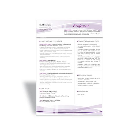 microsoft word resume templates 19 doc template 2017