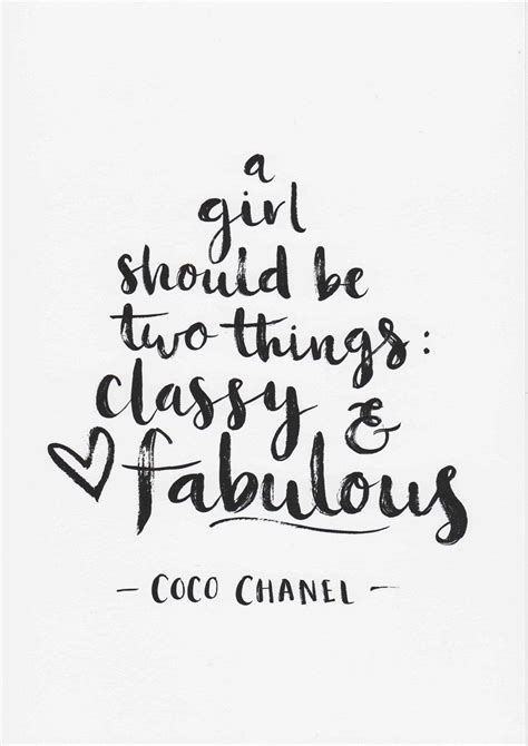 fashion illustration with quote modern and white background stock illustration coco chanel print a should be two things quote minimalist decor room decor