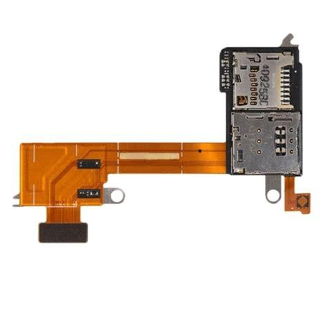 Flexibel Konektor Simcard Sony M600 sim card reader contact flex cable ribbon for sony xperia m2 d2303 d2305 d2306 alex nld