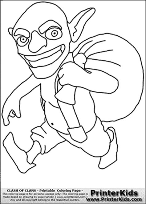 clash of clans dragon coloring page clash of clans goblin coloring page royal