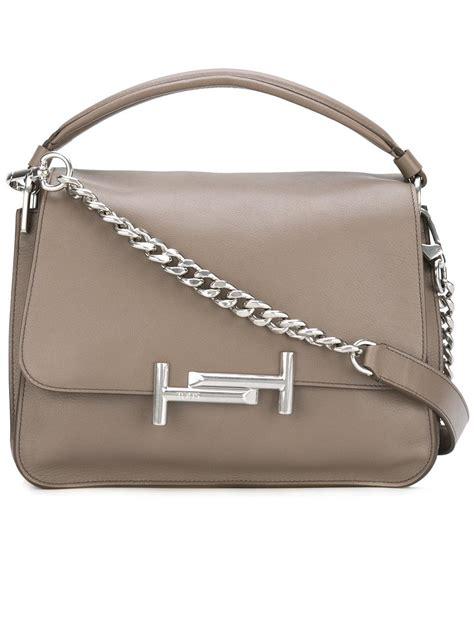 Botega Venetta 661 Jj Single Bag tod s t shoulder bag in brown lyst