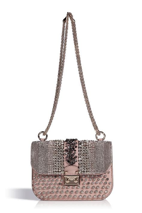 10 Valentino Bags by Valentino Powder Pink Leather Embellished Bag In