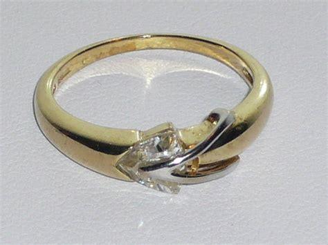 Ring Kotak 4 Cm Gold gold modern ring with large zircons ring width 0 6 cm catawiki